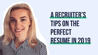 A recruiter's tips on the perfect resume in 2019 | Hiring Humans #004