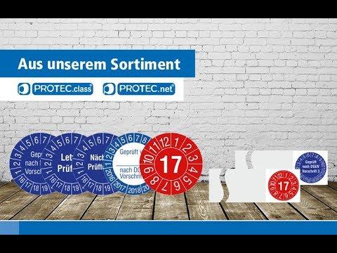 Neues aus der PROTEC Welt - Prüfplaketten und Warnschilder