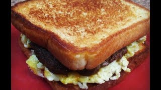 Texas Toast Sausage, Egg And Cheese Breakfast Sandwiches | Kiwannas Kitchen