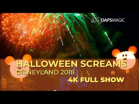 4k halloween screams disneyland 2018