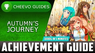 Autumn's Journey - Achievement / Trophy Guide (Xbox) **1000G IN 5 MINUTES**