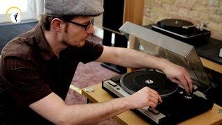 Alte Plattenspieler überprüfen und einstellen