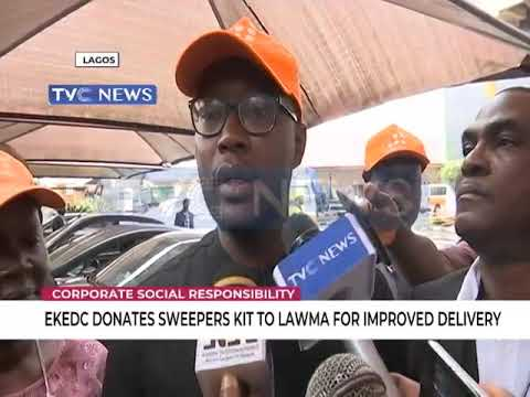 EKEDC donates Sweepers kit to LAWMA for improved delivery