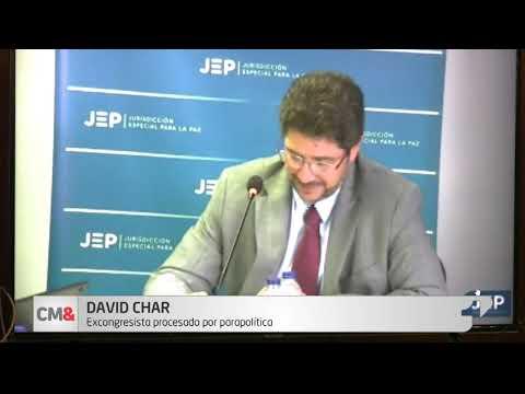 Ante la JEP, David Char reconoce relacion con el paramilitarismo y dice que se arrepiente