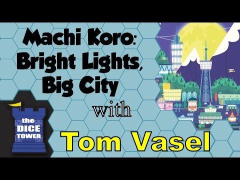 Machi Koro: Bright Lights Big City Review - with Tom Vasel