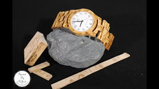 Making a handmade wooden watch from stabilized wood