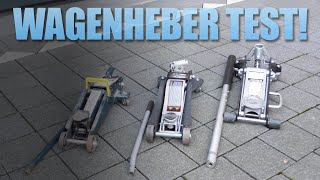 Wagenheber Test: Rodcraft RH135 vs Low Profile Wagenheber vs Discounter Wagenheber