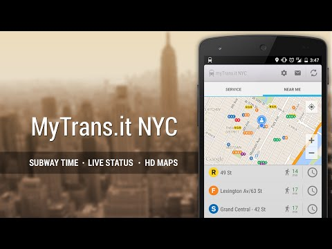 Video of MyTransit NYC Subway Real Time