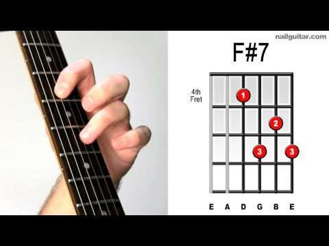 F#7 ♫♬ Guitar Chord Tutorial - Learn Acoustic & Electric Bar Chords Super Easy Lesson