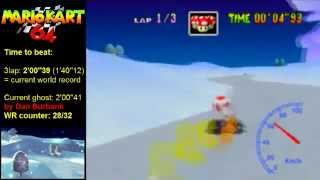 MK64 - former world record on Frappe Snowland - 2'00''34 (NTSC: 1'40''08)