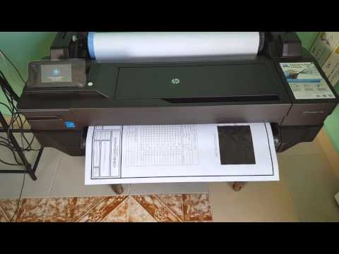 "Impresión de plano en  HP Designjet T120 - 24"""