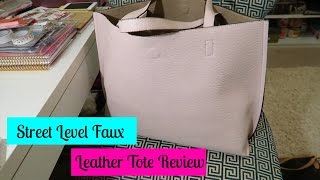 Street Level Faux Leather Tote