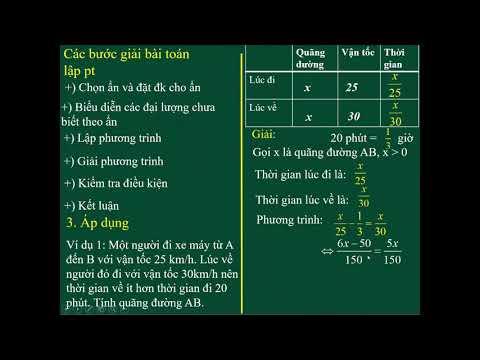 Toán 8 -  Bài 6: Giải bài toán bằng cách lập phương trình