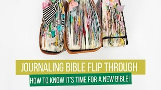 Journaling Bible Flip Through - 6 months and time for a new bible already!!!