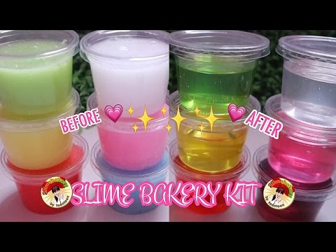 TESTING REAL AMAZING CLEAR SLIME BAKERY KIT THAILAND SUPER EASY - TUTORIAL REVIEW BHS INDONESIA