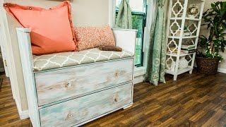How To - Paige Hemmis DIY Refurbished Dresser Ottoman (Part 1) - Home & Family