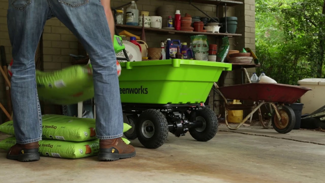 Greenworks 40V Cordless Self Propelled Wheelbarrow - 2