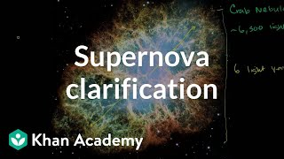 Supernova clarification