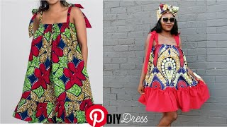 Simple Convertible African Print {Ankara} Flared Dress