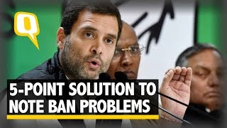 The Quint Rahul Gandhi Suggests FivePoint Remedy To Solve Note Ban Woes