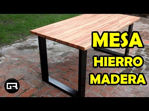 MESA INDUSTRIAL HIERRO Y MADERA   TABLE, industrial style