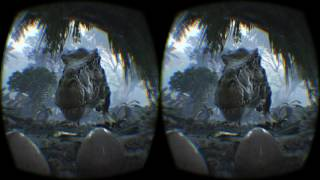 VR Dinosaur Video - 3D Dinosaur scary experience - Jurassic park Video HD