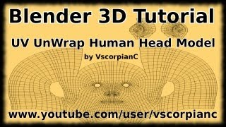 Blender 3D Tutorial - UV Mapping How to Unwrap Character Head by VscorpianC