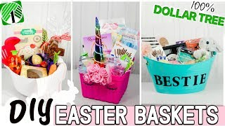 DIY DOLLAR TREE EASTER BASKETS 2019 | UNIQUE Easter Baskets For Under $20 At The Dollar Store!
