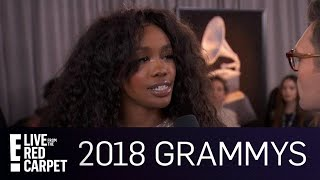 SZA Talks Overcoming Her Shyness at 2018 Grammys | E! Red Carpet & Award Shows
