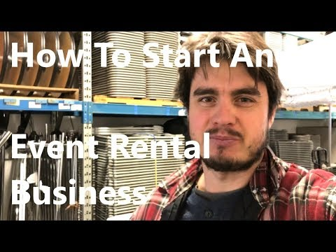 How to Start an Event Rental Business - Right Now! - And with No Startup Money!