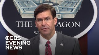 Defense Secretary Mark Esper breaks with Trump over use of military force on protesters