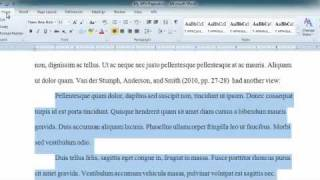 APA Long Quotes in Word 2010