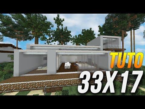 Minecraft tuto construction maison moderne en 33x17 for Tuto maison moderne nox x
