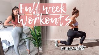 Working out while pregnant! | full week of workouts at 26 week pregnant!