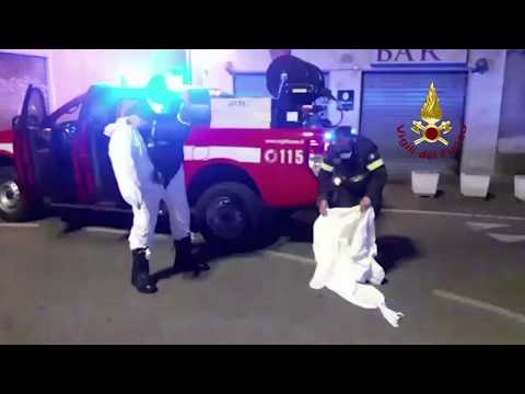 Preview video I Vigili del Fuoco di Oristano impegnati nell'Emergenza coronavirus