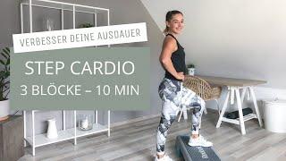Step Cardio - Verbesser deine Ausdauer -  auf dem Steppbrett // keine Choreo // Ausdauertraining