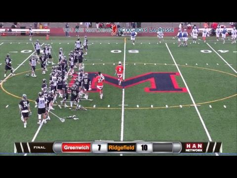 HAN Sports: FCIAC Boys Lacrosse Semifinals #2 Greenwich vs. #3 Ridgefield 5.23.17