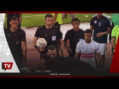 جماهير الزمالك تهاجم جهاد جريشة بين شوطي المباراة.. وحسين السيد يغادر الملعب على نقالة