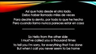 Hello   Adele   Letra/Lyrics Español/Ingles