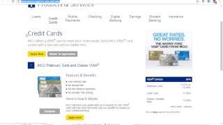 MCU Credit Card Overview 2017