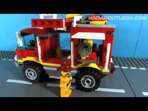 Vidéo LEGO City 4208 : Le camion de pompier tout-terrain