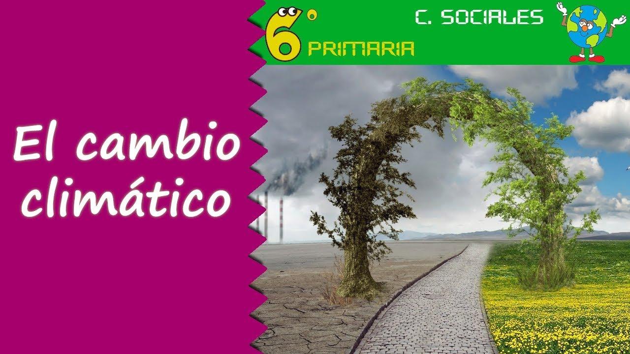 Cambio climático. Sociales, 6º Primaria
