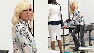 Donatella Versace Kicks Off Her Shoes For TSA