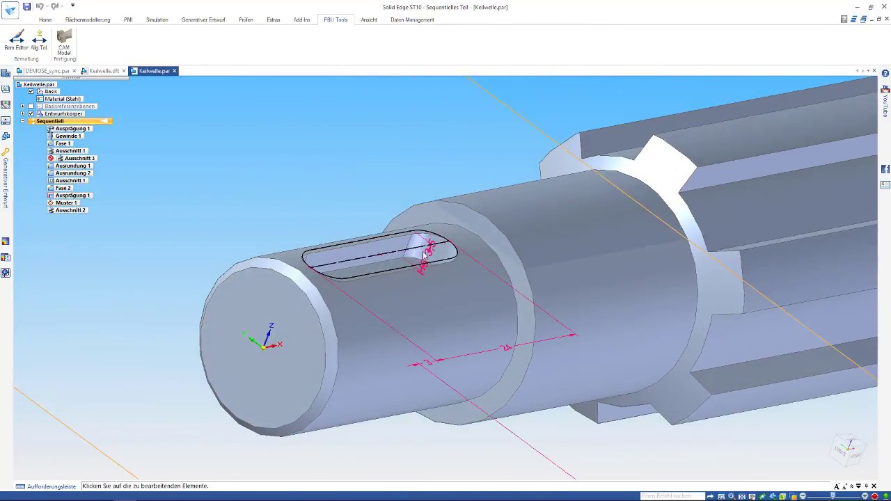 Vorschaubild: PBU-Tool für Solid Edge: CAM Modeler