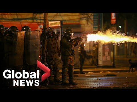 Chile Protests Violent Clashes Rock Santiago After Massive Anti Government Rally
