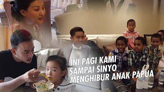 The Onsu Family - Ini Pagi kami, dan sampe Sinyo menghibur anak PAPUA