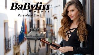 BaByliss Placa 2 în 1 Pure Metal pentru păr perfect drept sau bucle lejere