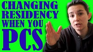 Do I Have to Change My Residency When We PCS? | Military Spouse Guides