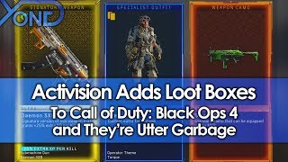 Activision Adds Loot Boxes to Black Ops 4, and They