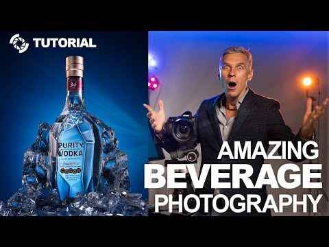 How to photograph a glass bottle, beverage photography tutorial